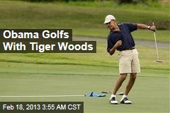 Obama Golfs With Tiger Woods