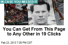 You Can Get From This Page to Any Other in 19 Clicks