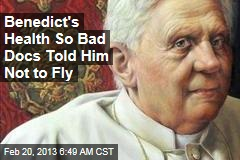 Benedict's Health So Bad Docs Told Him Not to Fly