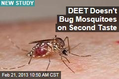 DEET Doesn't Bug Mosquitoes on Second Taste