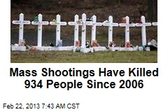 Mass Shootings Have Killed 934 People Since 2006