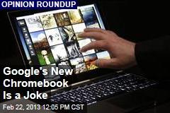 Google's New Chromebook Is a Joke