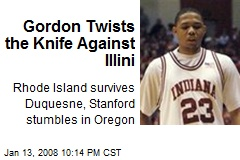 Gordon Twists the Knife Against Illini