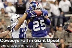 Cowboys Fall in Giant Upset