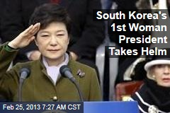 South Korea's 1st Woman President Takes Helm