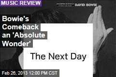 Bowie's Comeback an 'Absolute Wonder'