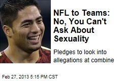 NFL to Teams: No, You Can't Ask About Sexuality