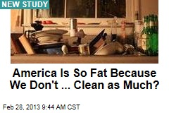 America Is So Fat Because We Don't ... Clean as Much?