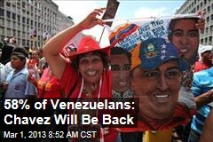 58% of Venezuelans: Chavez Will Be Back