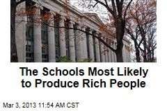 The Schools Most Likely to Produce Rich People