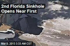Second Fla. Sinkhole Opens Near First