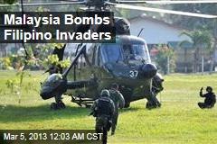 Malaysia Bombs Filipino Invaders