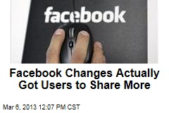 Facebook Changes Actually Got Users to Share More
