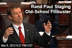 Rand Paul Stages Old-School Filibuster of CIA Nominee