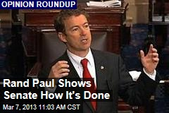 Rand Paul Shows Senate How It's Done