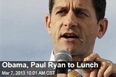 Obama, Paul Ryan to Lunch