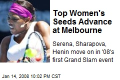 Top Women's Seeds Advance at Melbourne