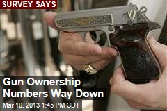 Gun Ownership Numbers Way Down