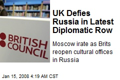 UK Defies Russia in Latest Diplomatic Row