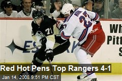 Red Hot Pens Top Rangers 4-1