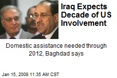 Iraq Expects Decade of US Involvement