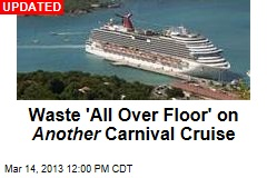 Waste 'All Over Floor' on Another Carnival Cruise