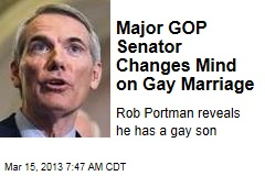 Major GOP Senator Changes Mind on Gay Marriage