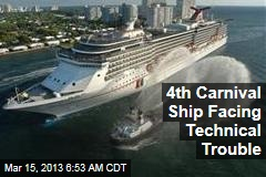4th Carnival Ship Facing Technical Trouble