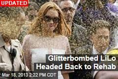 Lindsay Lohan Glitterbombed