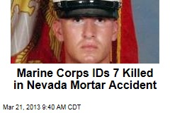 Marine Corps IDs 7 Killed in Nevada Mortar Accident