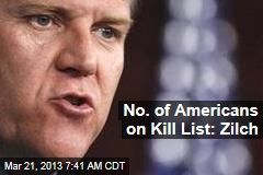No. of Americans on Kill List: Zilch