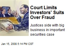 Court Limits Investors' Suits Over Fraud
