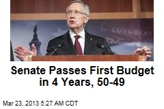Senate Passes First Budget in 4 Years, 50-49