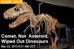 Comet, Not Asteroid, Wiped Out Dinosaurs