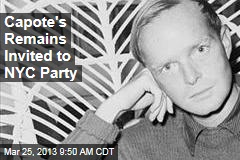 Capote's Remains Invited to NYC Party
