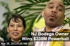 NJ Bodega Owner Wins $338M Powerball