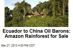 Ecuador to China Oil Barons: Amazon Rainforest for Sale