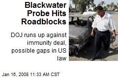Blackwater Probe Hits Roadblocks