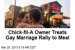 Chick-fil-A Owner Treats Gay Marriage Rally to Meal