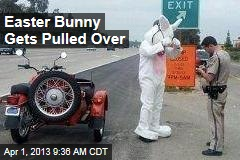 Easter Bunny Gets Pulled Over