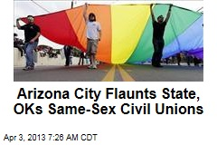 civil unions in arizona for same A former mining community in rural southern arizona that has shifted over the years into an artists' haven and tourist destination is poised to become the first city in this conservative state to.