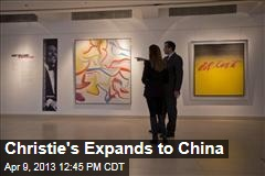 Christie's Expands to China