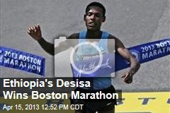 Ethiopia's Desisa Wins Boston Marathon
