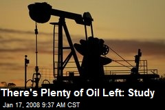 There's Plenty of Oil Left: Study