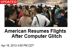 Computer Glitch Grounds American Airlines