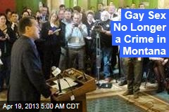 Gay Sex No Longer a Crime in Montana