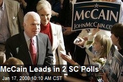 McCain Leads in 2 SC Polls