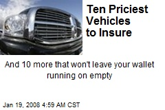 Ten Priciest Vehicles to Insure
