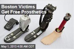 Boston Victims to Get Free Prosthetics