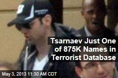 Tsarnaev Just One of 875K Names in Terrorist Database